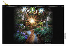 Carry-all Pouch featuring the digital art Have Faith by Kathy Tarochione