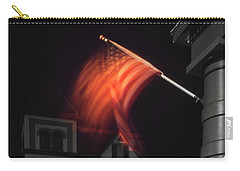 Carry-all Pouch featuring the photograph Waving Flag In Easton by Mike McGlothlen