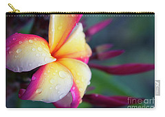 Carry-all Pouch featuring the photograph Hawaii Plumeria Flower Jewels by Sharon Mau