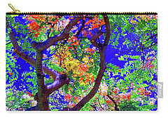 Carry-all Pouch featuring the photograph Hawaii Shower Tree Flowers In Abstract by D Davila
