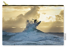 Hawaii Surfing Sunset Polihali Beach Kauai Carry-all Pouch