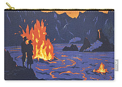 Hawaii Vintage Travel Poster Carry-all Pouch by Georgia Fowler