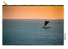 Hawaiian Outrigger Canoe Carry-all Pouch by Mary Lee Dereske