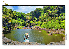 Carry-all Pouch featuring the photograph Hawaiian Sacred Pools by Michael Rucker