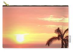 Carry-all Pouch featuring the photograph Hawaiian Sunset by Karen Nicholson