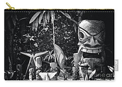 Carry-all Pouch featuring the photograph Hawaiian Tiki Carvings by Sharon Mau