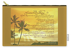 Hawaiian Wedding Blessing-sunset Carry-all Pouch