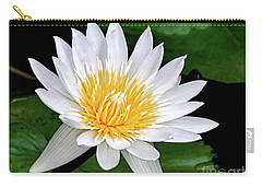 Hawaiian White Water Lily Carry-all Pouch by Sue Melvin