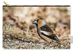 Hawfinch's Gaze Carry-all Pouch by Torbjorn Swenelius