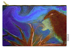 Hawk Eye Halloween Crow Painting By Lisa Kaiser Carry-all Pouch