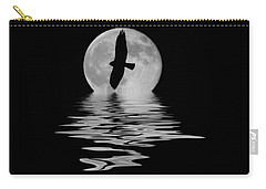 Carry-all Pouch featuring the photograph Hawk In The Moonlight 2 by Shane Bechler