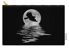 Carry-all Pouch featuring the photograph Hawk In The Moonlight by Shane Bechler
