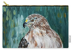 Carry-all Pouch featuring the painting Hawk by Maria Langgle