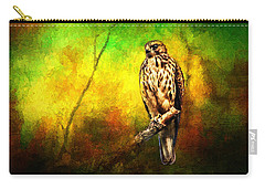 Hawk On Branch Carry-all Pouch