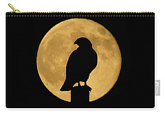 Carry-all Pouch featuring the photograph Hawk Silhouette 2 by Shane Bechler