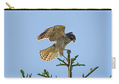 Hawk With Regal Landing Carry-all Pouch