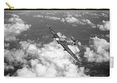 Carry-all Pouch featuring the photograph Hawker Hurricane IIb Of 174 Squadron Bw Version by Gary Eason