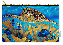 Hawksbill Sea  Turtle Carry-all Pouch