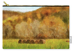 Carry-all Pouch featuring the photograph Hay Bales by Lois Bryan