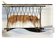 Hay Feeder In Winter Carry-all Pouch