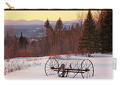 Hay Rake At Winter Sunset Carry-all Pouch