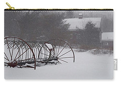 Hay Rake In The Snow Carry-all Pouch