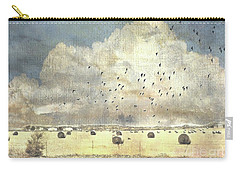 Carry-all Pouch featuring the photograph Hay Rolls Near Broken Arrow Oklahoma by Janette Boyd