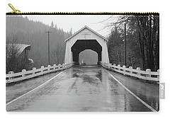 Hayden Covered Bridge, Alsea,  Oregon Carry-all Pouch by Judy Wanamaker