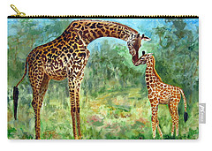 Haylee's Giraffes Carry-all Pouch by LaVonne Hand