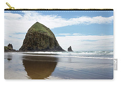 Carry-all Pouch featuring the photograph Haystack Rock #1 by Rebecca Cozart