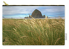 Haystack Rock And Beach Grass Carry-all Pouch