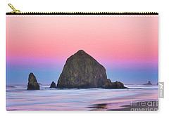 Haystack Rock At Dawn Carry-all Pouch