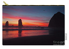 Haystack Rock At Sunset 2 Carry-all Pouch