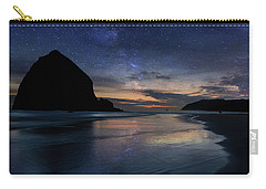 Haystack Rock Under Starry Night Sky Carry-all Pouch