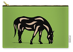 Hazel - Pop Art Horse - Black, Hazelnut, Greenery Carry-all Pouch