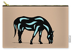 Hazel - Pop Art Horse - Black, Island Paradise Blue, Hazelnut Carry-all Pouch