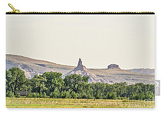 Carry-all Pouch featuring the photograph Hazy Chimney Rock by Sue Smith
