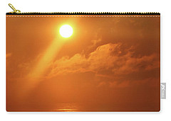 Hazy Orange Sunrise On The Jersey Shore Carry-all Pouch