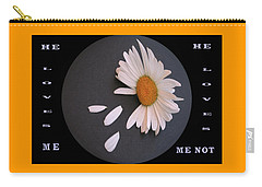 He Loves Me, He Loves Me Not Carry-all Pouch