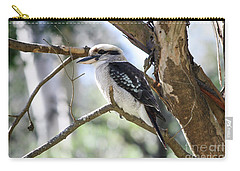 Carry-all Pouch featuring the photograph He Sings The Song Of The Bush by Linda Lees