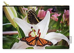 Carry-all Pouch featuring the photograph He Still Gives Me Butterflies by Karen Wiles