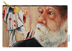 He Was Always Looking Over His Shoulder Carry-all Pouch by Jean Cormier
