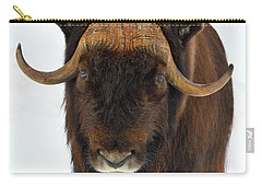 Carry-all Pouch featuring the photograph Head Butt by Tony Beck