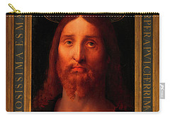Carry-all Pouch featuring the painting Head Of Christ                                   by Fernando De La Almedina