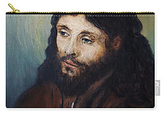 Head Of Christ After Rembrandt Carry-all Pouch