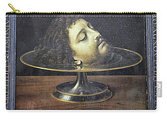 Carry-all Pouch featuring the photograph Head Of John The Baptist, 1507, With Frame And Inscription -- By by Patricia Hofmeester