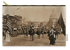 Head Of Washington D.c. Suffrage Parade Carry-all Pouch by Padre Art