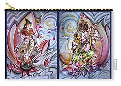 Healing Art - Musical Ganesha And Saraswati Carry-all Pouch