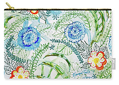 Carry-all Pouch featuring the painting Healing Garden by Monique Faella