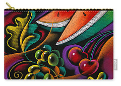 Healthy Fruit Carry-all Pouch by Leon Zernitsky